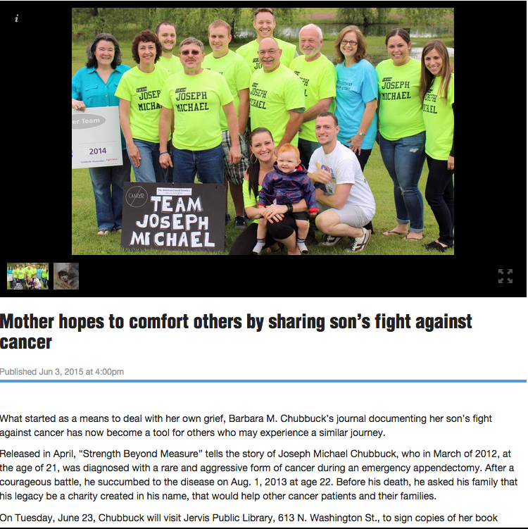 Mother hopes to comfort others by sharing son's fight against cancer
