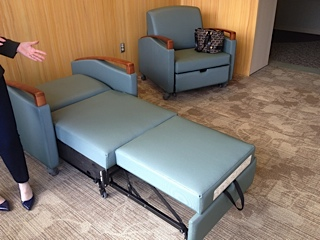 Sleeper chairs donated to Passavant Hospital